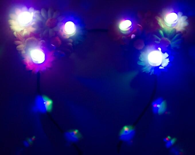 Rainbow LED Cat Ears