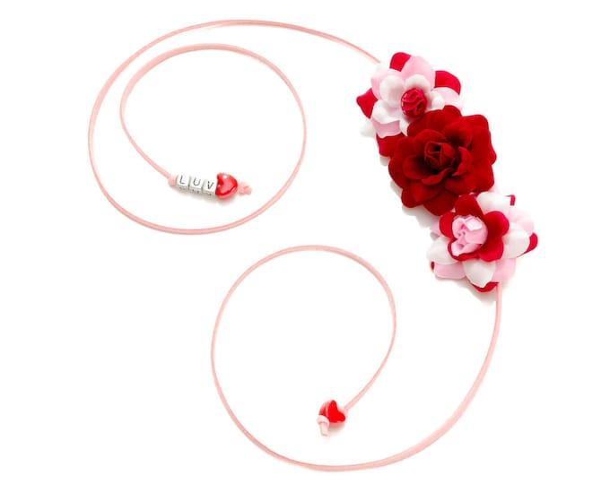 Valentine's Day Rose Side Flower Crown