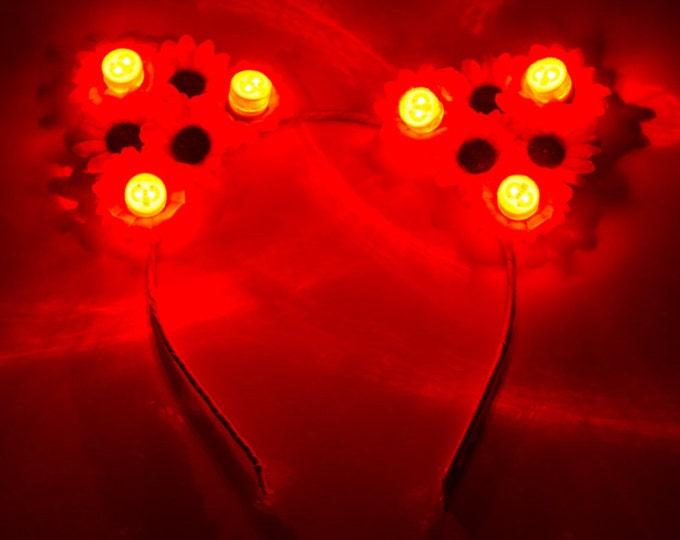Red LED Cat Ears