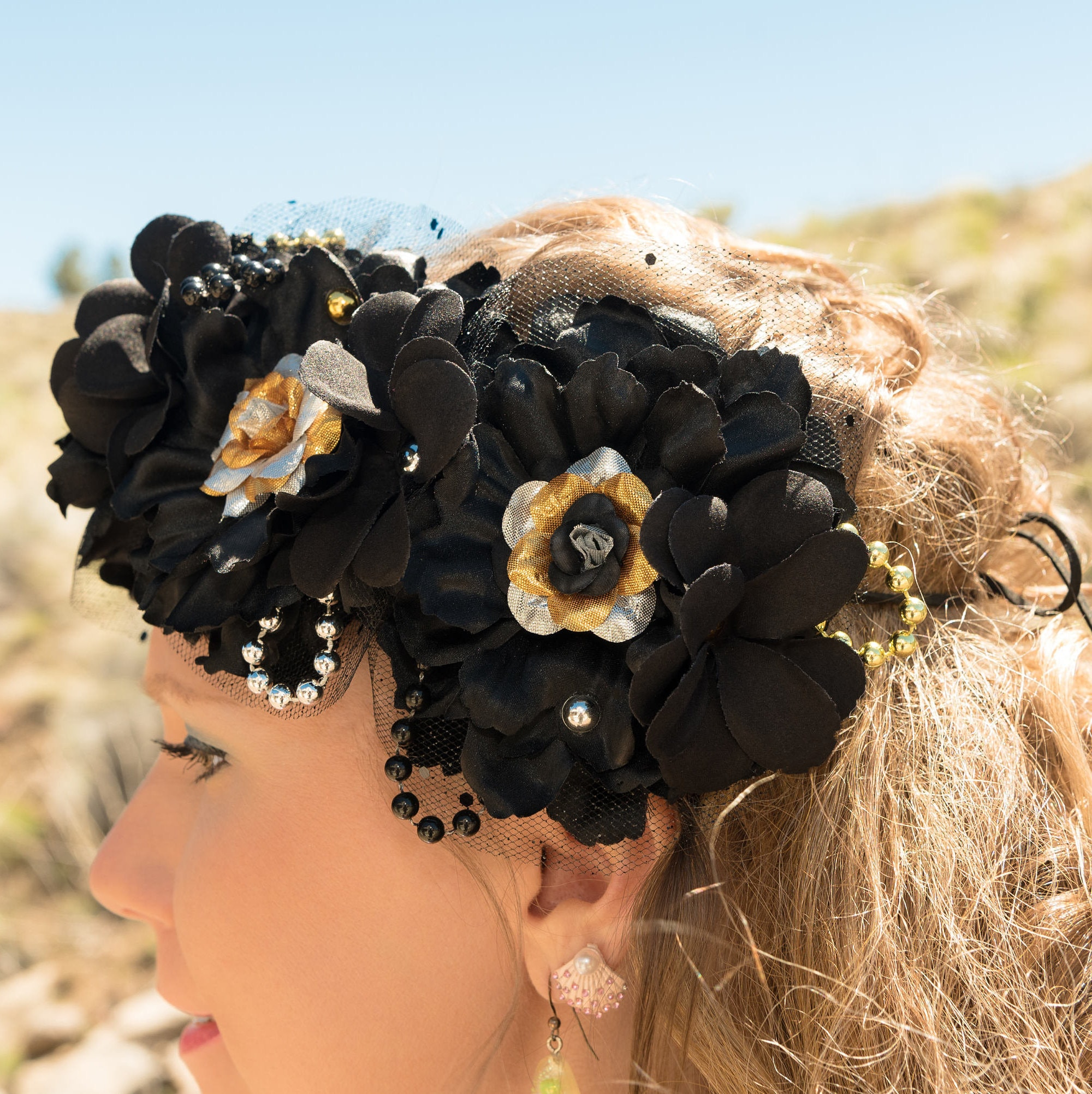Black mermaid flower crown black mermaid flower crown 1 izmirmasajfo