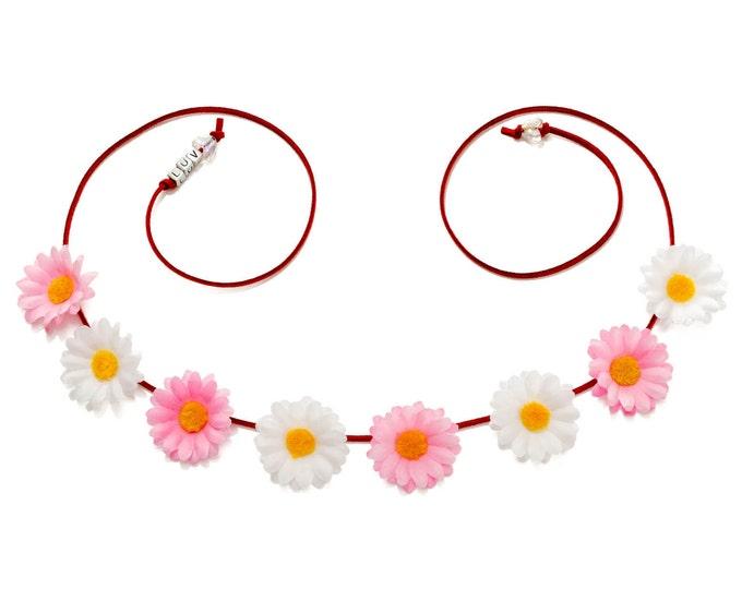 Valentine's Day Daisy Flower Crown