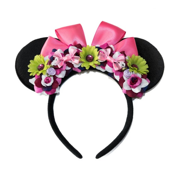 Disney Park Mickey Minnie Ears Cos Haunted Mansion Tightrope Girl Bow Headband