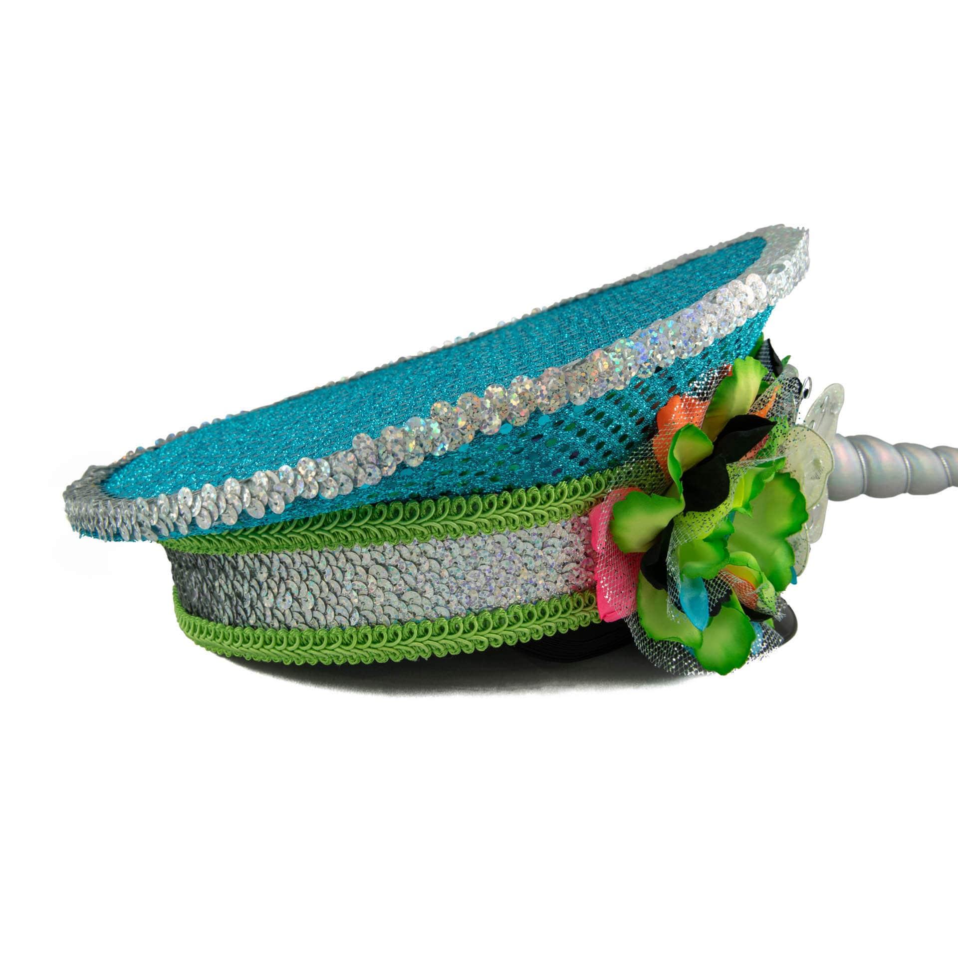 24e1f1a5f1a55 Neon Rainbow Unicorn Captains Hat
