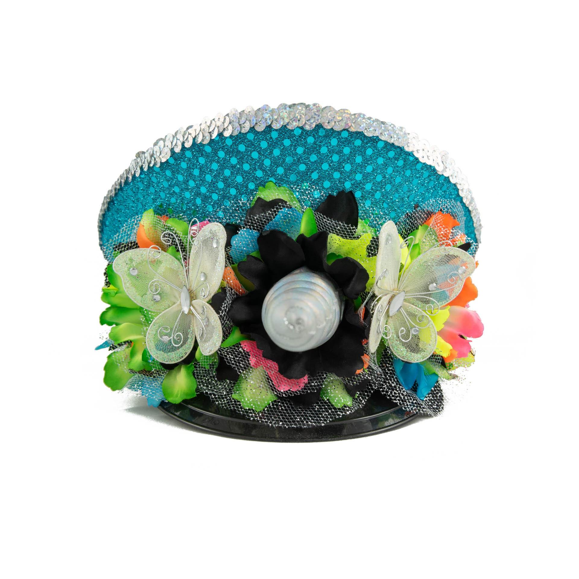 4107bb4385cec Neon Rainbow Unicorn Captains Hat. 1