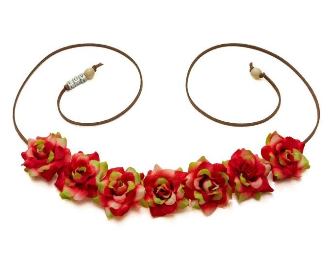 Christmas Rose Flower Crown