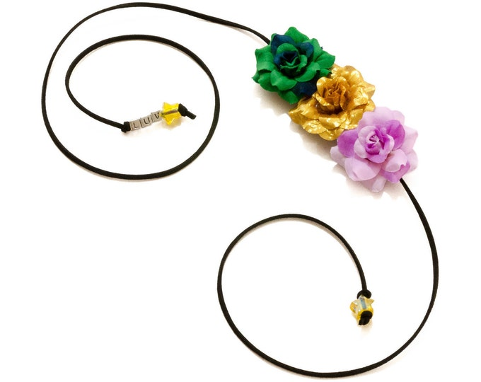 Mardi Gras Rose Side Flower Crown