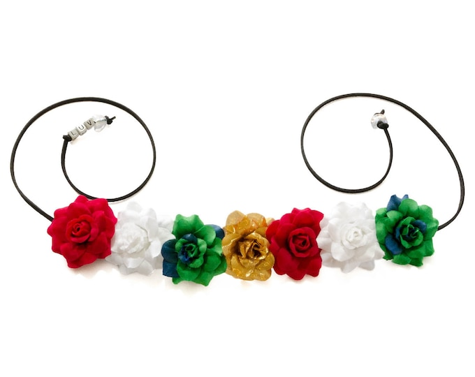 Cinco de Mayo Rose Flower Crown