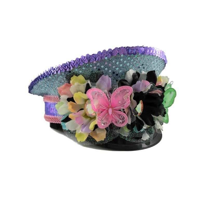cf78f73dfd328 Pastel Rainbow Captains Hat Festival Captains Hat Rave