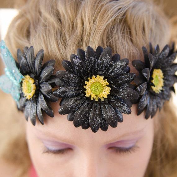 NEW Crochet Sparkly Flower Crown//tiara//Headbands-Various Sizes! Poison-prop