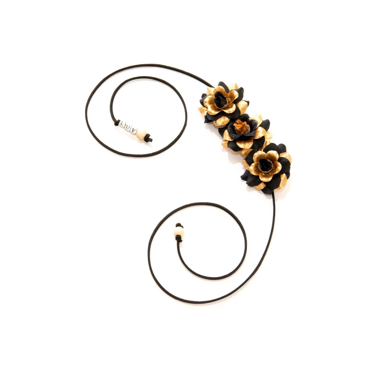 Black Gold Rose Side Flower Crown. 1 33d6740c272