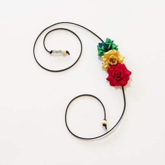 Rasta Rose Side Flower Crown Flower Headband Rasta Headband  07ff3e28cab