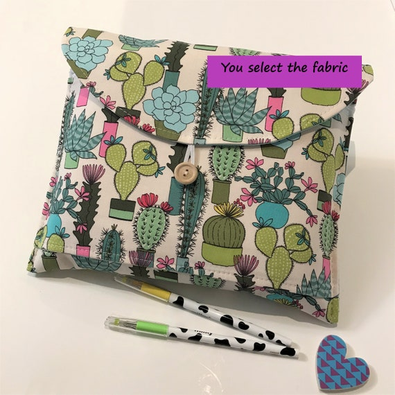 Cactus Pencil Pouch *READY TO SHIP* Zipper Pouch Planner Pouch