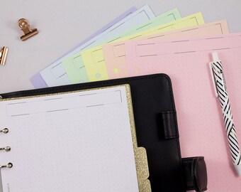 60 planner inserti per agenda stampati inserti per agenda giornaliera. agenda giornaliera pagine per appunti appunti 30 pagine lista delle cose da fare ricarica per agenda A5