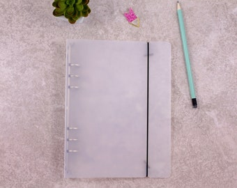 A5 planner binder, planner organizer, transparent planner, plastic planner binder