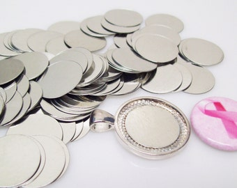 Magnetic pendant etsy steel metal discs 34 19mm for use to make magnetic pendants 1000 discs aloadofball Images