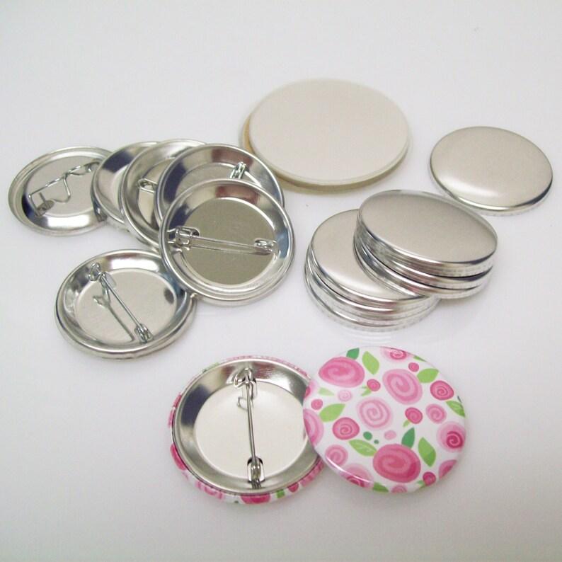 Complete Tecre Pin Back Button Parts for Button Maker Machines 1.50 inch 1-12 100 pcs