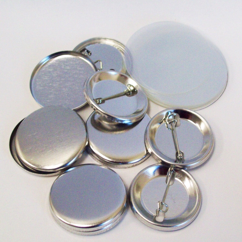 1000 Tecre 1,25 pouces Pin arrière bouton pièces complètes complètes complètes - pour une utilisation avec la machine à 1-1/4