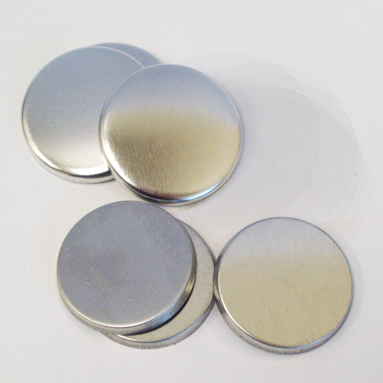 Plus de 2000 Tecre 1,25 pouces complet métal plat plat plat dos bouton pièces - pour une utilisation avec la machine à 1-1/4