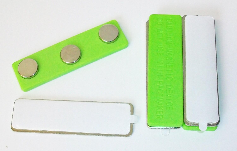 300 vert Super Strong néodyme néodyme néodyme vêtements aimant barres nom Badge Tag aimants avec onglet 414d5d