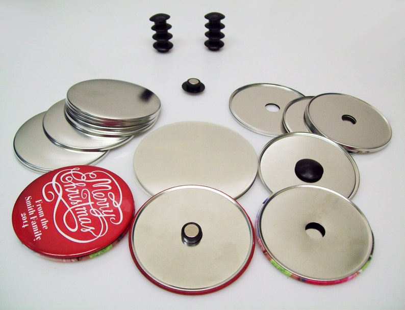 "2-1//4"" 2.25 inch Complete Standard Size Tecre Magnet Buttons 1000pcs"