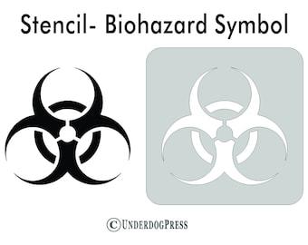 "Biohazard Warning Symbol Yellow Zombies 2/"" Scrapbooking Crafting Stickers"