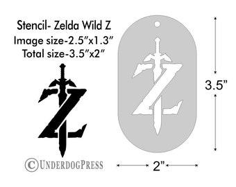 reusable custom stencils for painting Legend of Zelda crest Zelda stencil Zelda Triforce Hyrule plastic template in Small /& Large sizes
