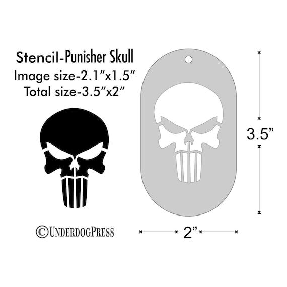 Stencil Punisher Skull Medium