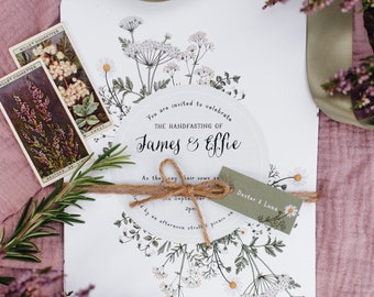 Summer Meadow wedding invitation and matching stationery // Wildflower wedding invitations // Bohemian wedding