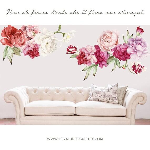 Adesivi floreali per pareti best fiore di loto with for Cornice adesiva per pareti