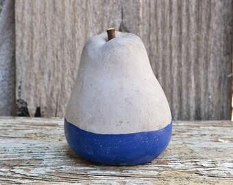 Concrete Blue Dipped Pear