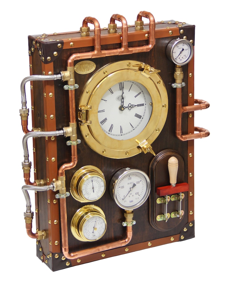 Wall Clock BernisCervera Industrial Steampunk old and vintage image 0