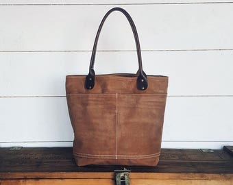 Everyday Tote - Signature Collection - Waxed Canvas