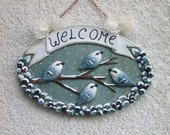 Winter snow Christmas welcome sign