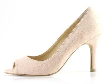 46a7ea7591f Nude Wedding Shoes