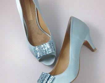 Powder blue heels | Etsy