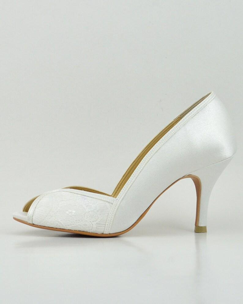 9f7e7c89bac9 White Lace Wedding Shoes White Lace Bridal Shoes White Ivory