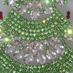 Elegant Czech Rhinestone Christmas Tree, Free Standing Xmas Decoration
