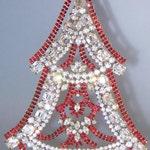 Czech Rhinestone Christmas Tree Vintage Ornament