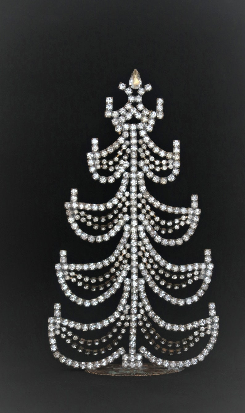 Clear Crystal Rhinestone Christmas Tree Movable Garlands image 0