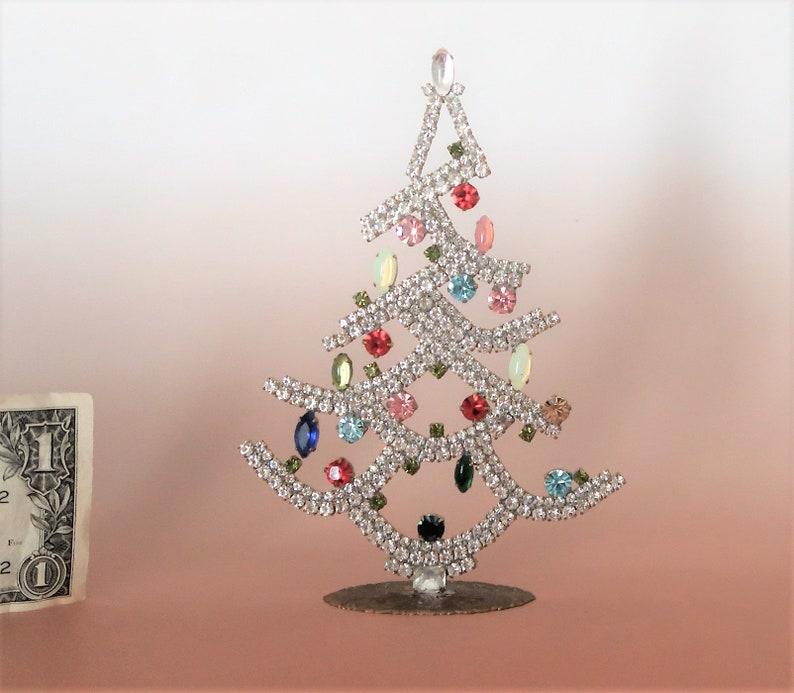 Rhinestone Christmas Tree Xmas Decoration Ornament image 0