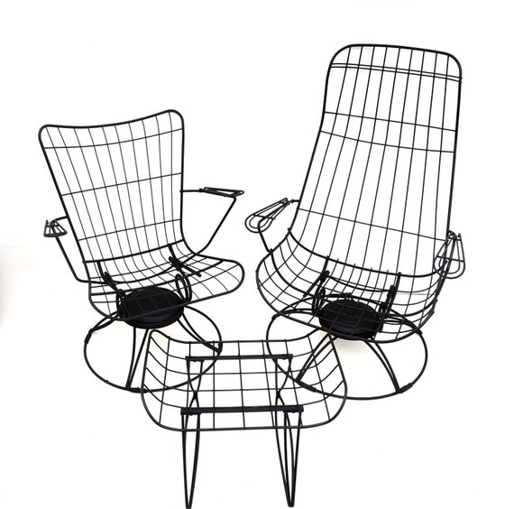 S O L D Homecrest Mid Century Metal, Patio Furniture Swivel Glider Chair