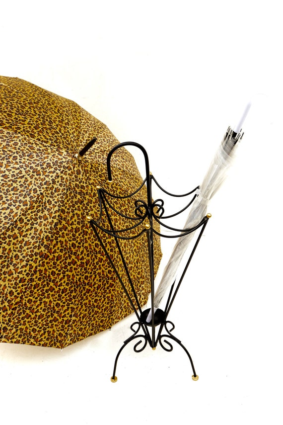 Chic Mid Century Metal Umbrella Stand Vintage Whimsical Etsy