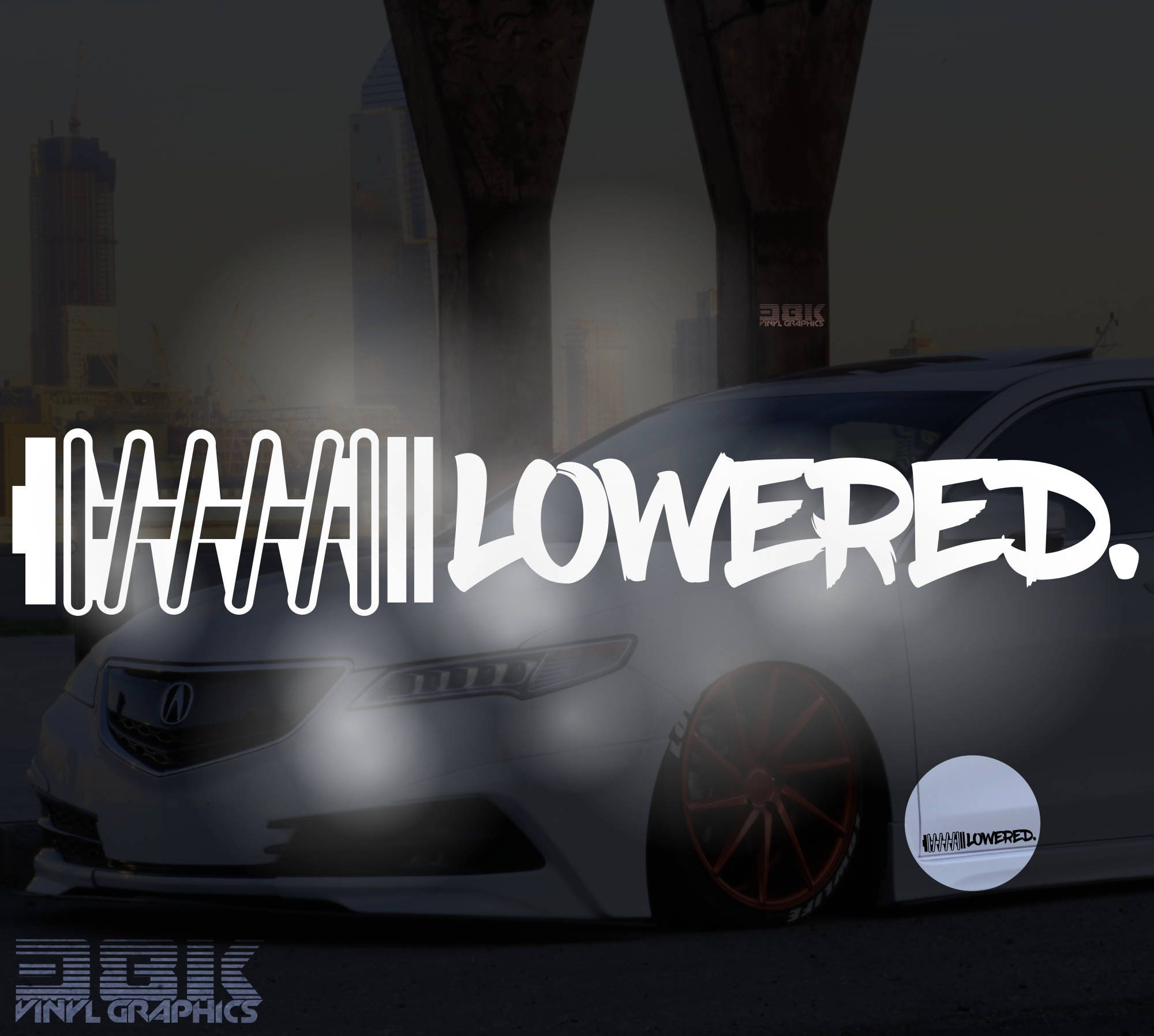 Static Coilover Auto Aufkleber Low Lowered Stance Tuning Autoaufkleber