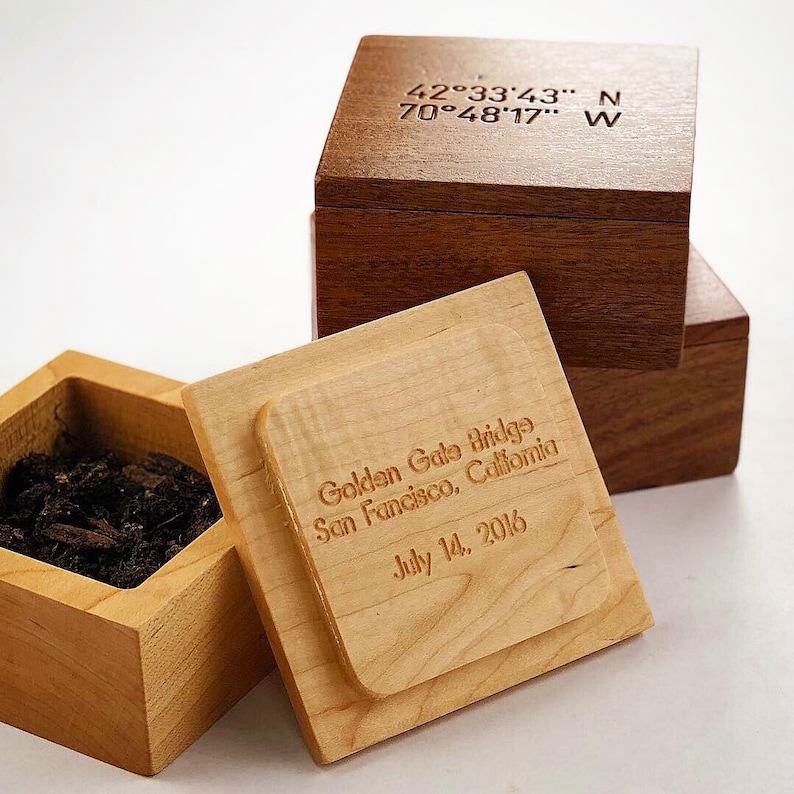 The GPS Box: A Wooden Box Holding A Tiny Bit of Earth From image 0