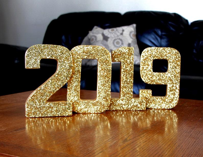 2019 Graduation Decor Props,2020 Grad Props,2019 Photo Props,2020 Decorations,,2019 Glittered Letters,Gold 2019 Numbers,2020 Senior Props