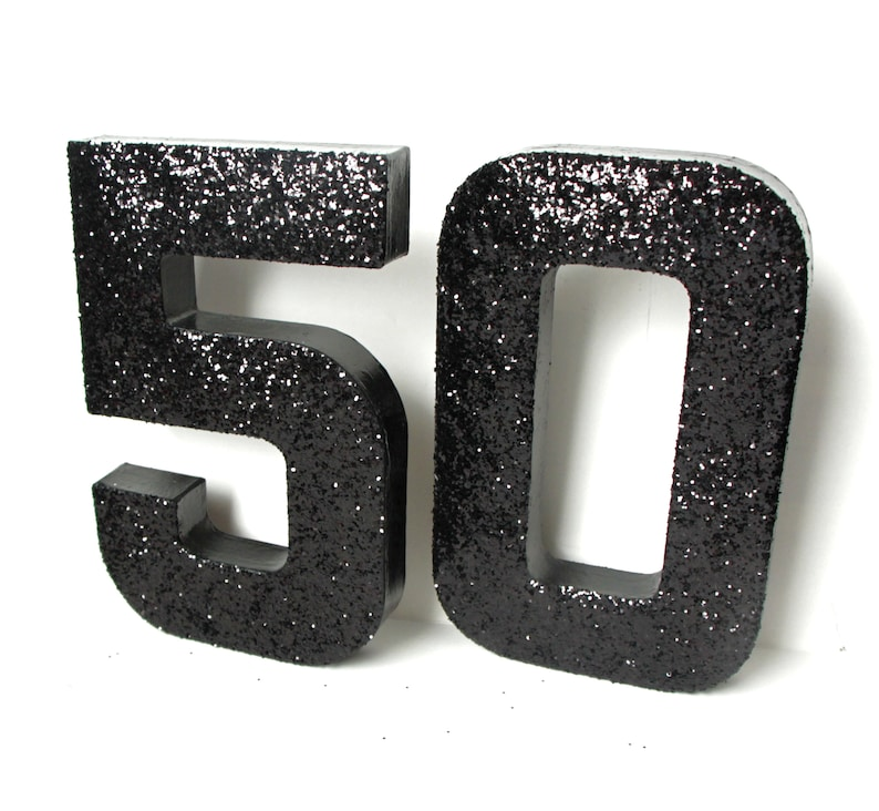 50th Birthday Prop,8 inch 50th number prop,50th photo prop,50th Table Centerpiece,50th Decorations,8 Inch Number Prop