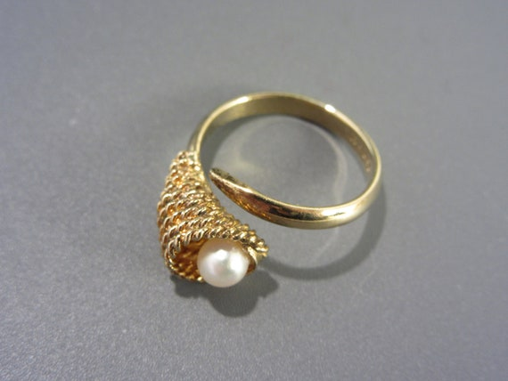 Sarah Coventry Cultured Pearl Ring Vintage - image 5