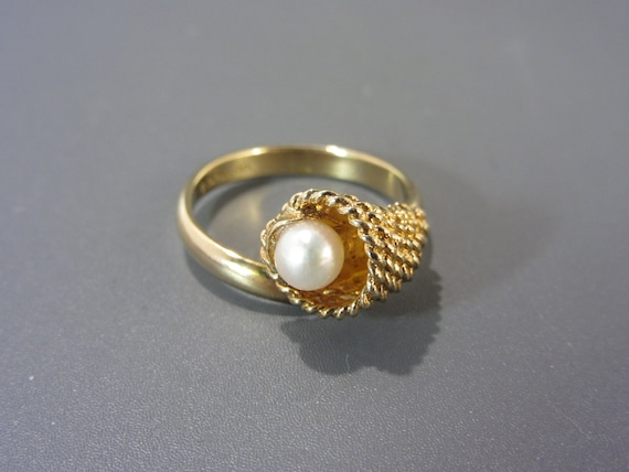 Sarah Coventry Cultured Pearl Ring Vintage - image 1