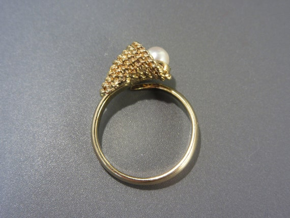 Sarah Coventry Cultured Pearl Ring Vintage - image 4