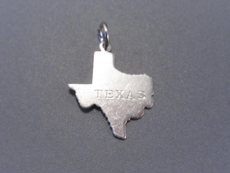 Vintage Sterling Texas State Charm or Pendant Plain State Shape